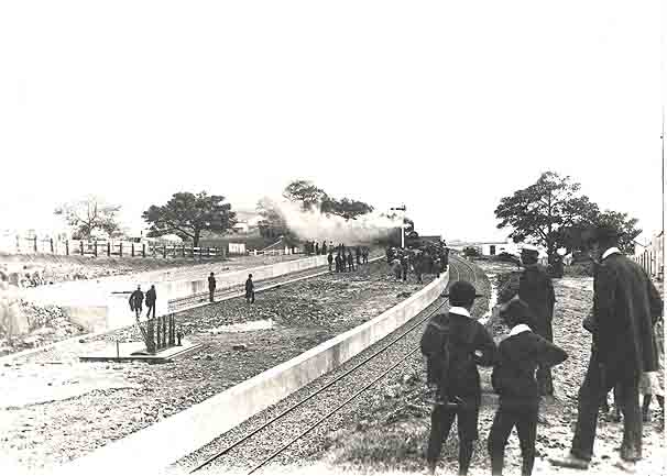 The first train to arrive at Kiama, 1893