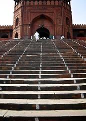 Main entrance of Jama Masjid in Delhi, India