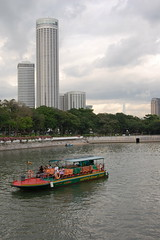 Singapore River From Esplanade Bridge