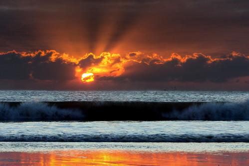sunset sea beach wales sand ship wave wfc aberavon porttalbot jamessamuel
