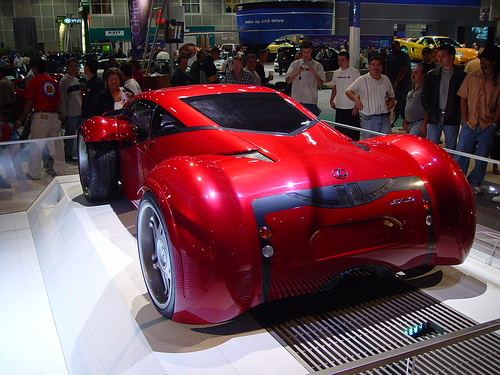 Lexus concept car from Minority Report movie