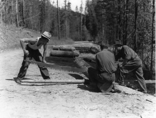 CCC maintenance work on Swan Lake Road, Colville National Forest