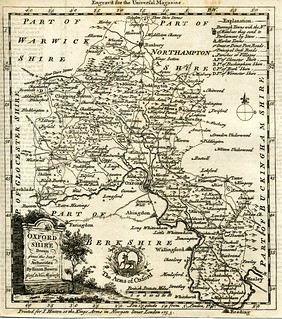 Old map; Oxfordshire, Bowen 1755