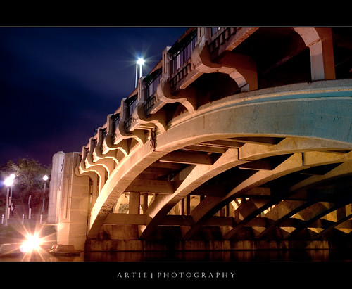 King Williams Bridge at the River Torrens, Adelaide - Night Shot