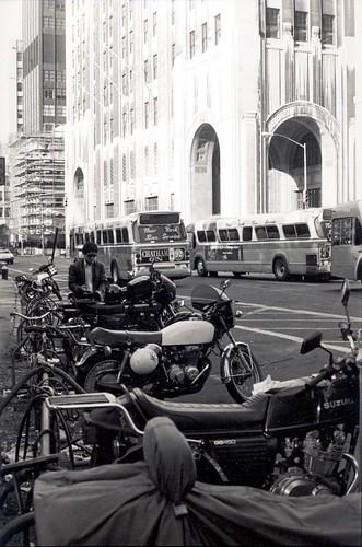 Bike parking, Madison Square Park 1983 by dclarson