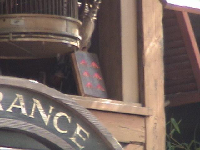 contest symbol, Indiana Jones™ and the Summer of Hidden Mysteries, Jungle Cruise, Adventureland, Disneyland®, Anaheim, California, 2008.05.26 15:43