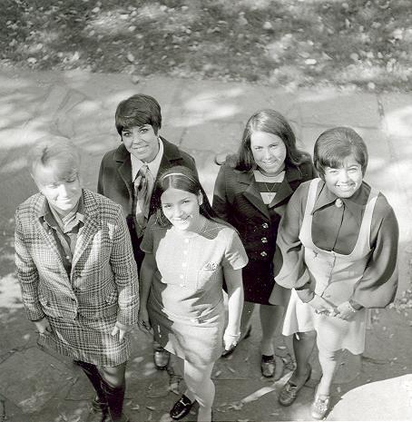 Yearbook Portraits, 1970 (54) - (l. - r.) Kathy Ott, Cookie Mancuso, Maria Parascandola, Mary Ellen Cunningham, Amelia Abagnalo