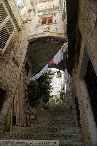 dubrovnik alley old town residential area