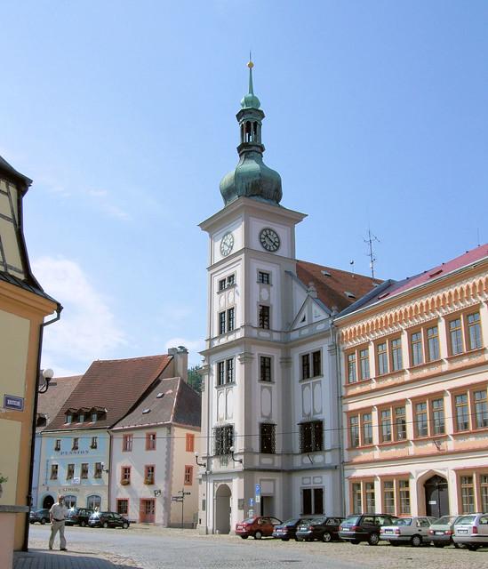 Loket Town Hall, Czech Republic.