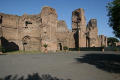 La entrada de las Termas de Caracalla