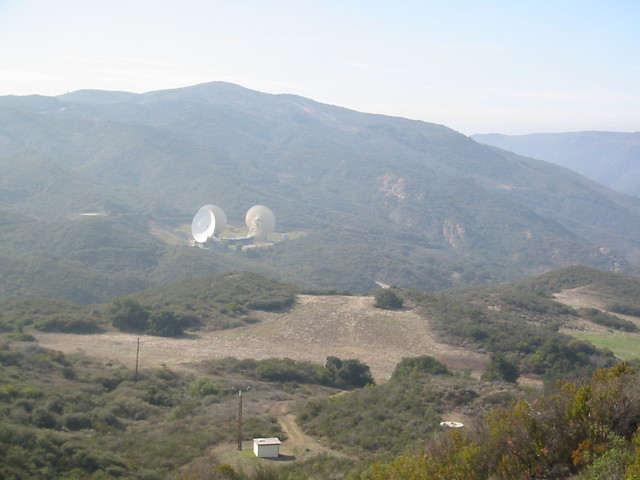 Enormous satellite dishes in the santa monica mountains for Malibu motors santa monica