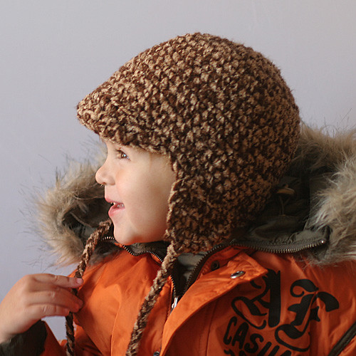Knitted Animal Hat with 'Triangle' Ears—Free Knit Pattern