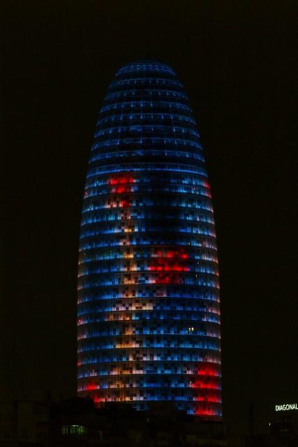 Torre Agbar de nit