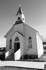 Old Saint Mary's Church in Rocklin, CA (B&W)