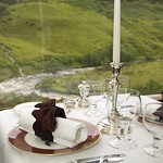 Train Chartering - Royal Scotsman, dining table