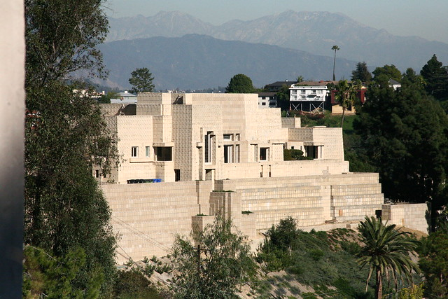 Frank Lloyd Wright House Los Angeles: Frank Lloyd Wright, Ennis House, Los Angeles, 1924