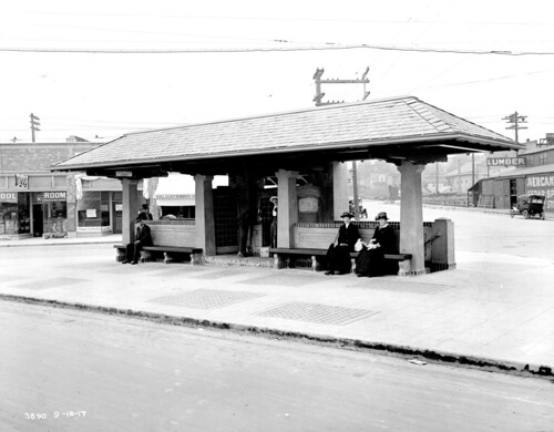Comfort station at Westlake and Stewart, 1917