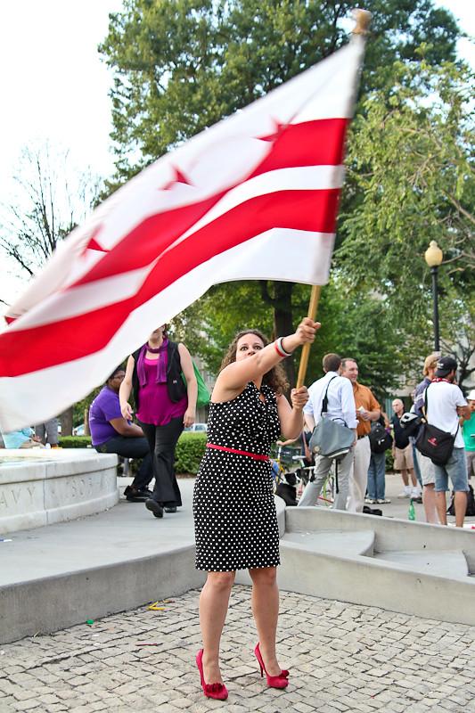 waving the DC flag