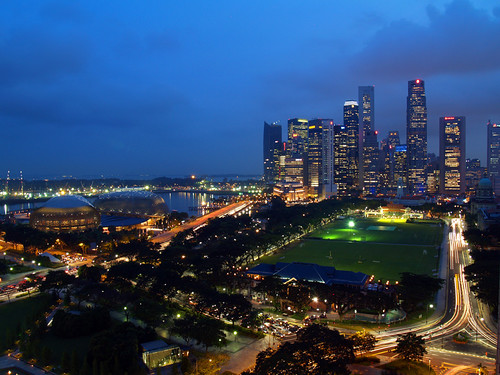 Singapore skyline: F1 on the Marina by yohanes budiyanto