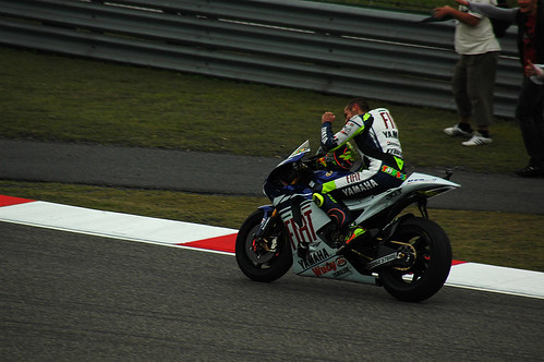 Rossi wins another Shanghai Moto GP 2008