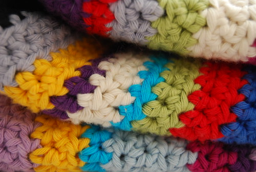 crocheted blanket, detail