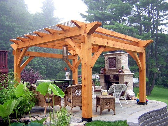 Timber Frame Pergola Designs