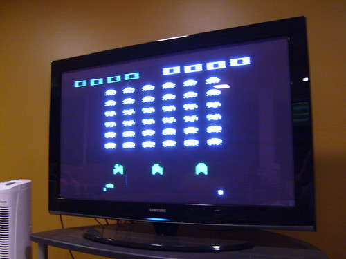 Atari 2600 on my 42 inch plasma tv