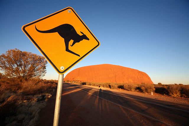 A strong candidate for most photographed road sign in Australia