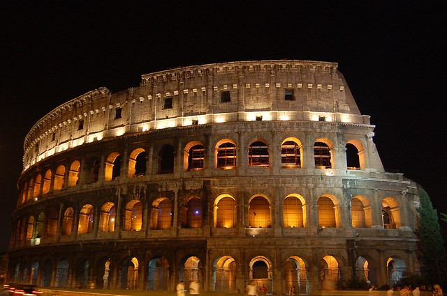 Colosseum at night, Rome, Italy   Flickr - Photo Sharing!