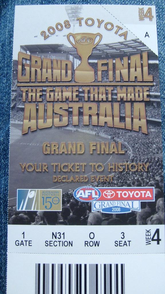 afl grand final tickets - photo #10