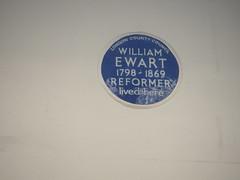 Photo of William Ewart blue plaque
