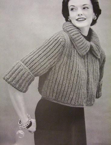 Bulky Sweater Knitting Patterns : Vintage Knitting Pattern: 1950s bulky sweaters and jackets? Flickr - Photo ...