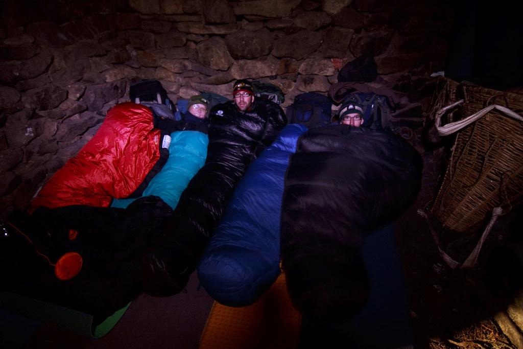 Sleeping inside Dharmashala