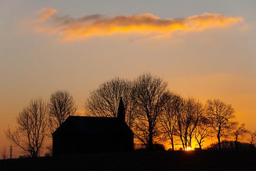 sunset st soleil coucher chapel chapelle gilles blueribbonwinner