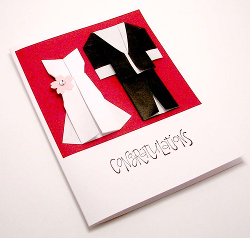 Origami Wedding Card