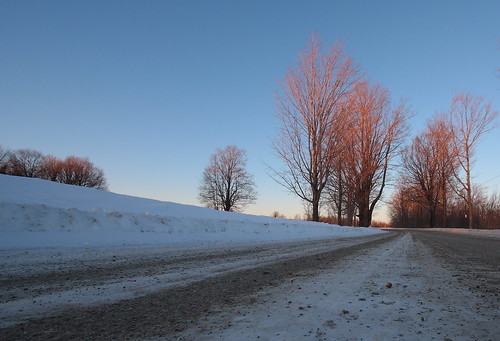 road trees sunset sky vermont glow dusk dirt vt braintreehill canon40d