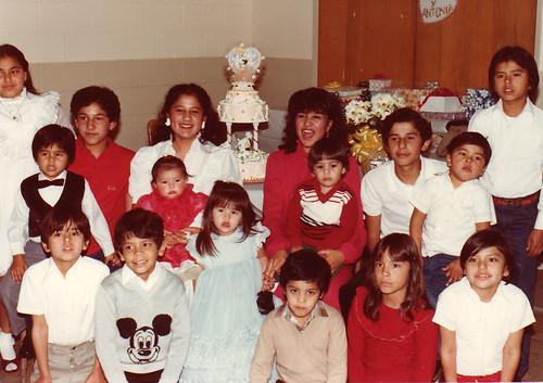 Ureño Saldivar grandkids, 1983