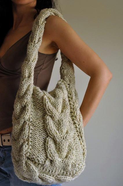 Связать сумку своими руками спицами