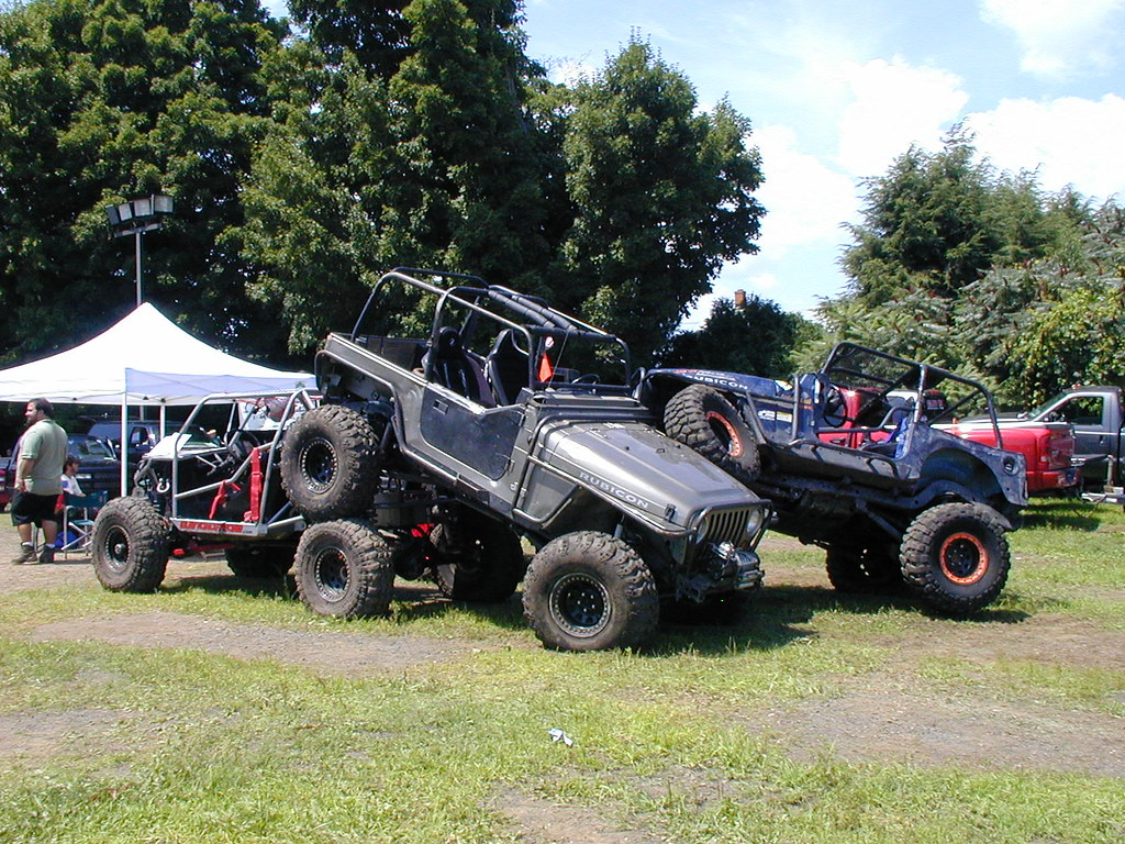 A stack of Jeeps