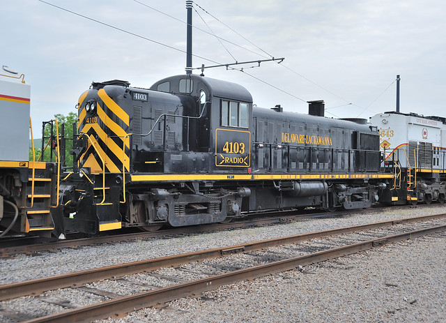 Delaware Lackawanna ALCO RS3 4103, stored at Steamtown National Historic Site, Scranton, Pennsylvania, May 26, 2009