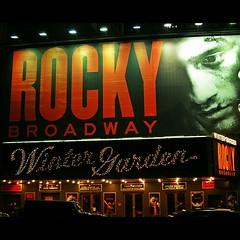 """Gonna fly now..."" #Rocky #Broadway #WinterGarden #NYC #NewYork"