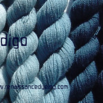 indigo dyed fine lace wool