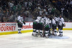 stick and ball games(0.0), roller in-line hockey(0.0), ball game(0.0), sports(1.0), team sport(1.0), ice rink(1.0), ice hockey(1.0), hockey(1.0), player(1.0), defenseman(1.0), ice hockey position(1.0), college ice hockey(1.0), bandy(1.0), athlete(1.0),