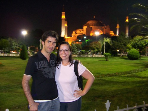 With Emin in front of Hagia Sophia