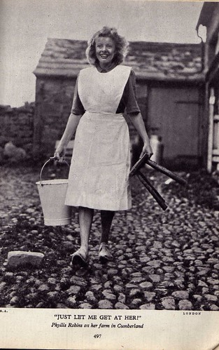 Wholesome Milkmaid in 1945 (Phyllis Robins)