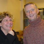 Billy Bragg and Rita Houston after a WFUV Marquee event