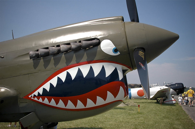 Plane Shark Mouth WW2 http://www.flickr.com/photos/carolg77/2578747678/