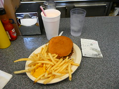 Kansas City, MO Town-Topic Hamburgers Double Cheeseburger with fries