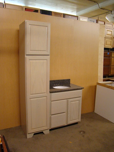 Kraftmaid oak bathroom vanity sink base cabinet set 48 ebay Kraftmaid bathroom cabinets
