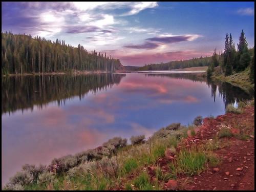 blue camping sunset red lake reflection green landscape photography utah purple scenic reservoir elite mywinners manningmeadowsreservoir